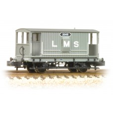 Graham Farish  377-750 - Midland 20 Ton Brake Van LMS Grey