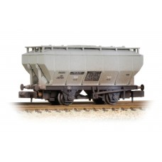 Graham Farish  377-766A - Covered Hopper Wagon 'Soda Ash' Light Grey Weathered