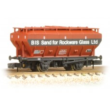 Graham Farish  377-767 - Covered Hopper Wagon British Industrial Sand Bauxite & Black