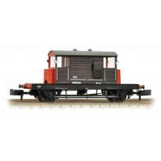 Graham Farish  377-851 - (D) SR 25 Ton 'Pill Box'Brake Van SR Brown Grey Roof & Red Ends