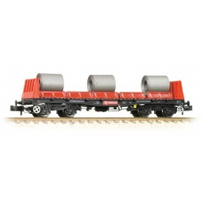 Graham Farish  377-900B - BAA Steel Carrier Wagon Railfreight Red & Black with Coils