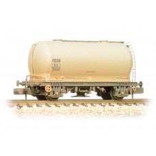Graham Farish  377-927A - PCA Metalair Bulk Powder Wagon Grey Unbranded Weathered