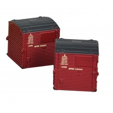 Graham Farish  379-391 - Type A Containers BR Crimson (x4)