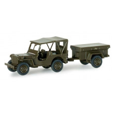 Minitanks  741989  Jeep w/Trlr Cvrd US Army