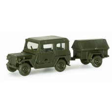 Minitanks  742160  FORD MUTT w/1-Axle Trlr