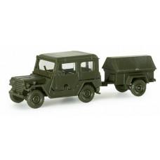 Minitanks  742160  FORD MUTT w/1-Axle Trlr