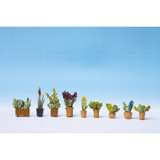 Noch  14011 - Flowers and plants in pots -assembled HO