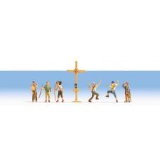 Noch  15874 - Mountain Hikers w/Cross