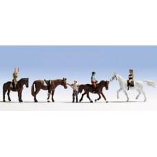 Noch  45630 - Riders w/Horses 8/