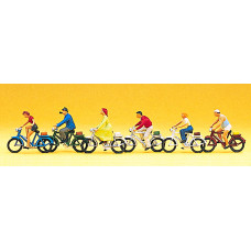 Preiser 10091 - People On Bicycles 6/