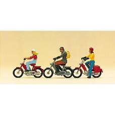 Preiser 10125 - Motorbike w/rider      3/