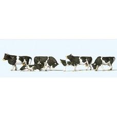 Preiser 10145 - Cows Wht & Blk 6/