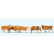 Preiser 10146 - Cows Wht & Brn 6/