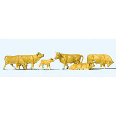 Preiser 10147 - Cows Light Brn 6/
