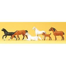 Preiser 10150 - Horses assorted        6/