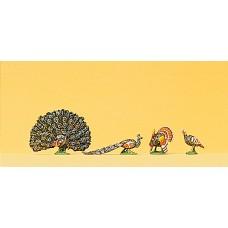 Preiser 10166 - Turkeys & Peacocks 4/