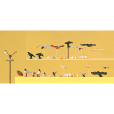 Preiser 10169 - Assorted Birds 22/