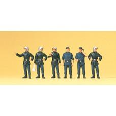 Preiser 10232 - French firemen w/mod hlmt