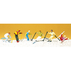 Preiser 10313 - Down-Hill Run Skiers 6/