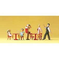 Preiser 10348 - Pantomime/Cafe Guests 5/
