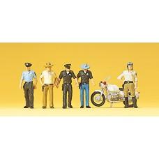 Preiser 10370 - Policemen US & Mtrcycl 6/