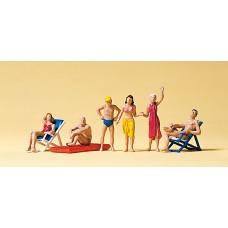 Preiser 10428 - Beachgoers Sit/Stand 6/