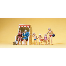Preiser 10438 - Sun Bathers/Beach Hut 7/