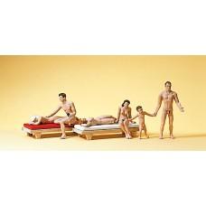 Preiser 10439 - Nude Bathers w/2 Lngs 8/