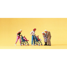 Preiser 10493 - Mothers w/Strollers