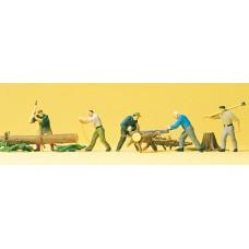 Preiser 10495 - Lumberjacks w/Logs 5/
