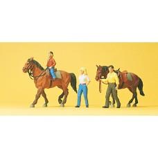 Preiser 10500 - Riders w/Horses #1