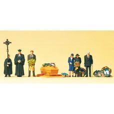 Preiser 10519 - Funeral Protestant 6/
