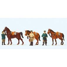 Preiser 10583 - German Police w/Horses 6/
