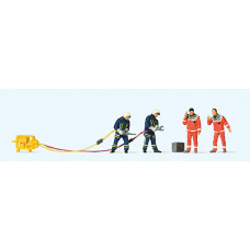 Preiser 10625 - Firemen w/Shears/Spreader