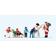 Preiser 10626 - Santa/Children/Snowman