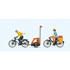 Preiser 10636 - Family Bicycle Ride