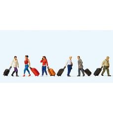 Preiser 10640 - Wlkng Trvlrs w/Suitcases