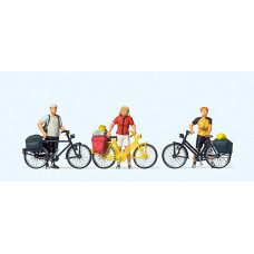 Preiser 10643 - Standing Cyclists #1 3/