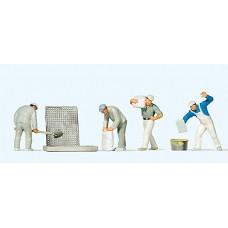 Preiser 10654 - Plaster & Cement Wrkrs 4/