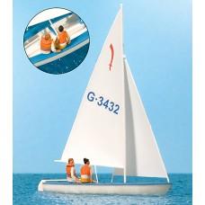 Preiser 10676 - Sailors Sailing Boat #1