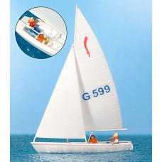 Preiser 10677 - Sailors Sailing Boat #2
