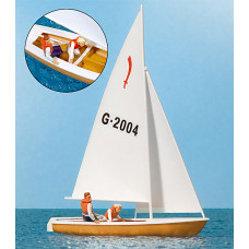 Preiser 10681 - Sailors Sailing Boat #4