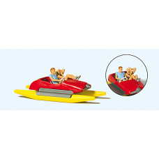 Preiser 10684 - Couple In Pedal Boat