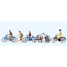 Preiser 10716 - Young People w/Bicycles