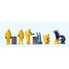 Preiser 10733 - Firemen Ylw Hzmt Suits 6/