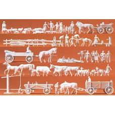 Preiser 16327 - Unpntd Figures Assrt 120/