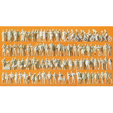 Preiser 16337 - Figures asst unpntd  120/