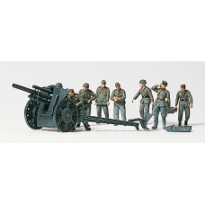 Preiser 16514 - 105mm Infantry gun w/crew