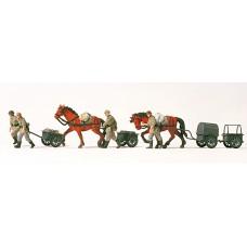 Preiser 16547 - Horse/Hand Drawn Carts