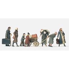 Preiser 16558 - Refugees Unpainted 7/